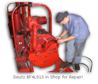 Deutz Shop Service - BF4L913 in for repair!